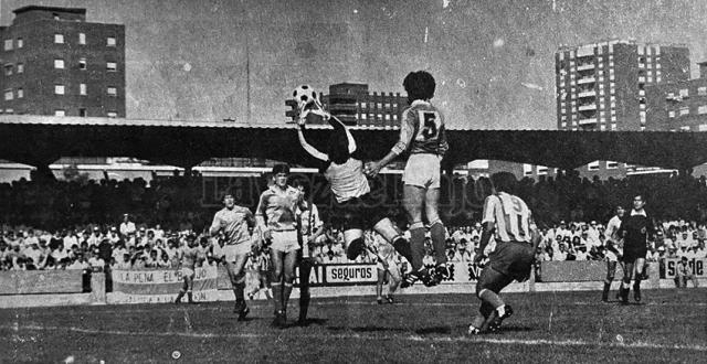 LA VOZ DEL RECUERDO (III) | Vaya imagen en El Prado, Talavera CF-Valladolid de 1982