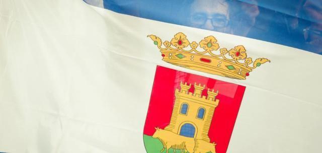 Bandera de Talavera en la manifestación del 11 de noviembre de 2017