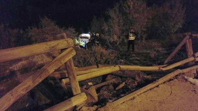 Rescate del conductor del vehículo siniestrado