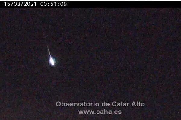 TOLEDO | Detectan una bola de fuego al impactar contra la atmósfera a 140.000 kilómetros por hora