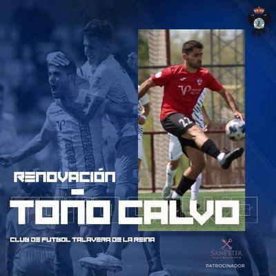 El CF Talavera confirma la renovación de Toño Calvo