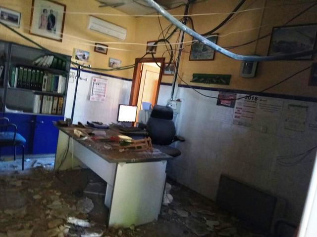 Se desploma el falso techo de la estación de tren de Torrijos