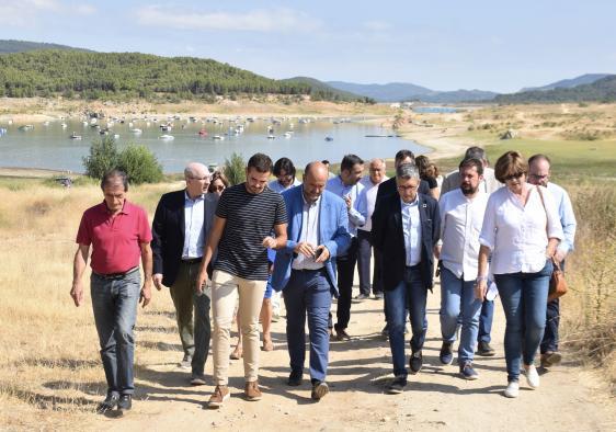 El vicepresidente del Gobierno regional, José Luis Martínez Guijarro, ha visitado hoy los embalses de cabecera del Tajo