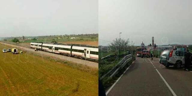 Muere un camionero al colisionar con un tren en Alberche (IMÁGENES)
