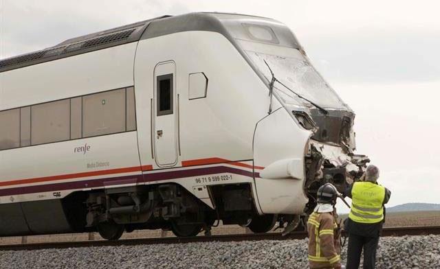 El accidente de tren se salda con 8 heridos, entre ellos el maquinista
