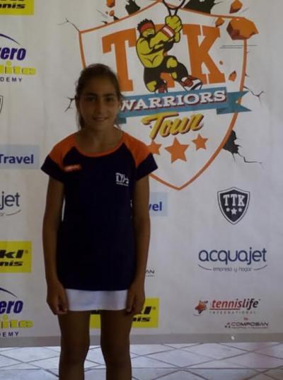 Sofía Fernandez, campeona del Nacional TTK Warriors