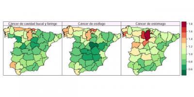Una investigación permite estimar la mortalidad por cáncer en provincias o la tasa de crimen por barrios