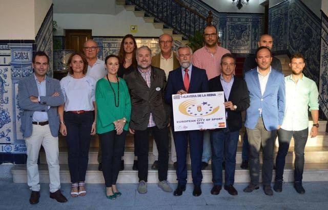 El comité que evalúa la candidatura de 'Talavera Ciudad Europea del Deporte' ya está en la ciudad