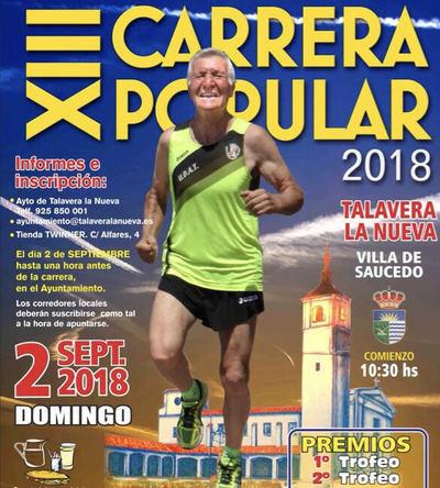 Talavera la Nueva celebrará la XIII edición de su Carrera Popular este domingo