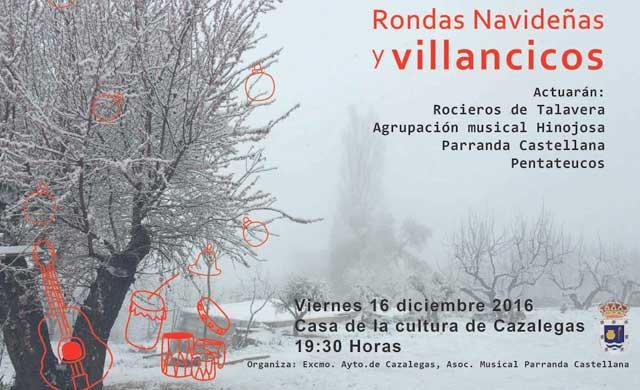 II Festival de Rondas y Villancicos Navideños, este viernes en Cazalegas