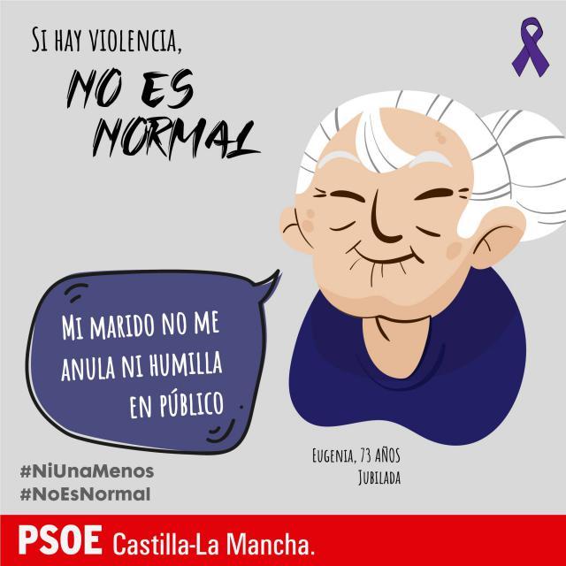 EL PSOE regional reafirma su compromiso contra la violencia machista con la campaña #noesnormal