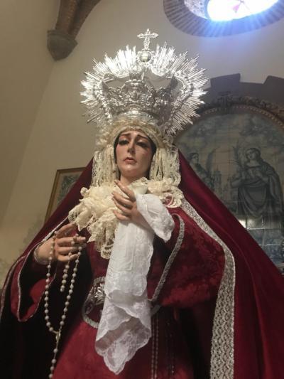 La cofradía de los Estudiantes ya tienen nueva imagen, María Santísima de la Humildad