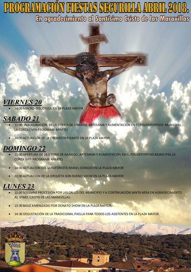 Todo preparado para dar comienzo a las Fiestas del Cristo de las Maravillas en Segurilla