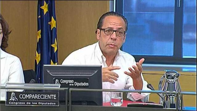 Álvaro Pérez, el Bigotes, en el Congreso de los Diputados