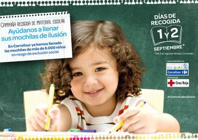 Carrefour y Cruz Roja impulsan en Talavera la IX edición de la campaña 'Vuelta al Cole Solidaria'