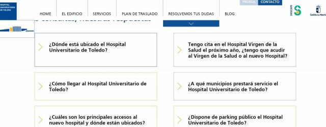 Nueva Web Hospital de Toledo | Web hospital Toledo