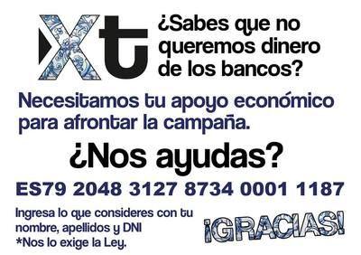 Xtalavera pide ayuda a los ciudadanos para financiar su campaña electoral
