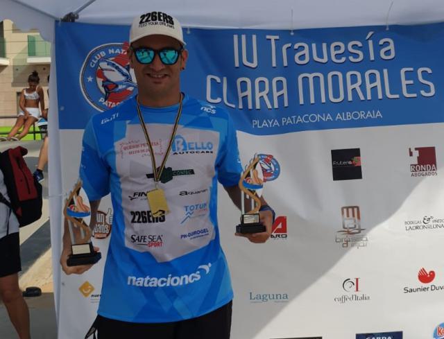 """Rubén Gutiérrez, Campeón """"moral"""" de la Travesía Clara Morales de Valencia"""